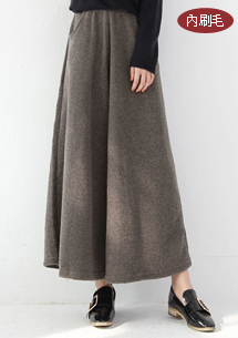 簡約特性圈圈絨長褲裙