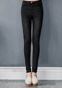 修飾顯瘦窄管牛仔褲